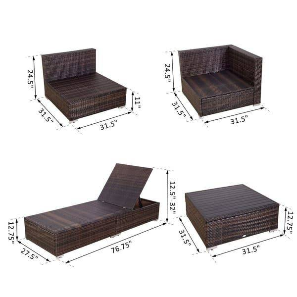 Outsunny 9 Piece Patio Furniture: Bewitching outsunny 9 piece patio  furniture on discount until outsunny