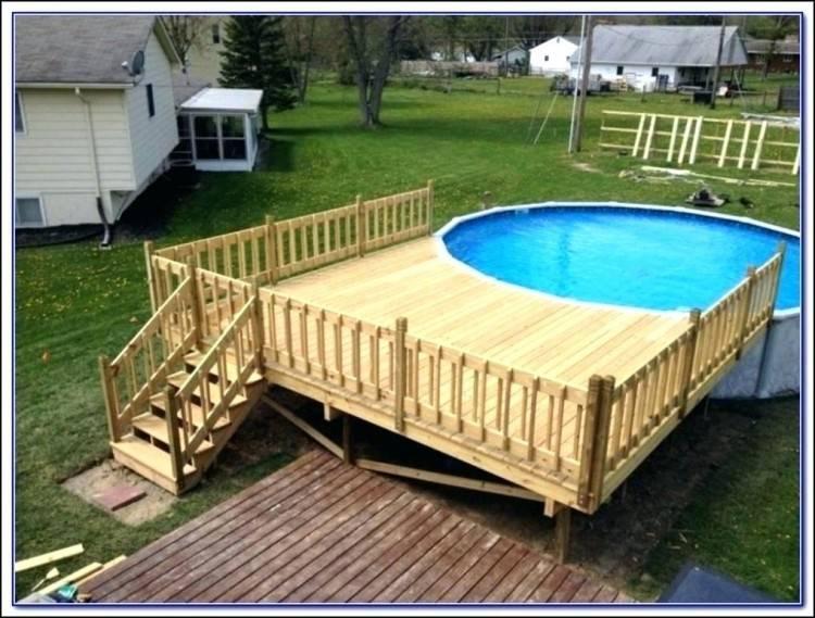Outdoor:Swimming Pool Deck Designs  Best Circular Above