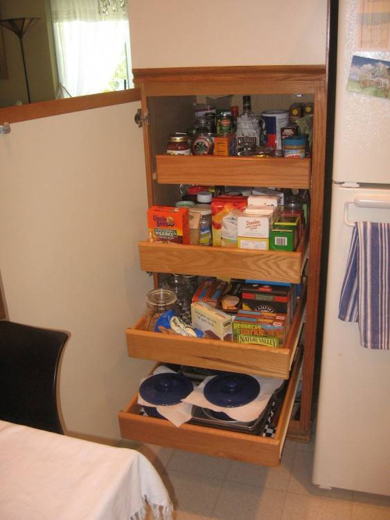 narrow kitchen cabinet