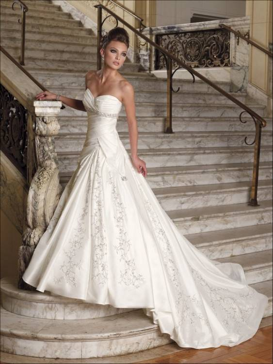 Allegra – Ivory taffeta dress, £495 All dresses available at bhs