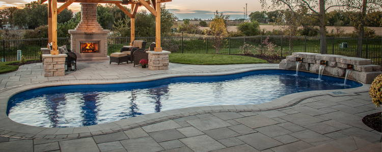 | Inground fiberglass swimming pool designs by  Viking Pools for Westchester, Putnam, Dutchess, Orange and Rockland  Counties in