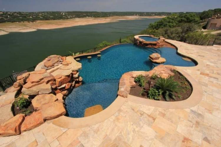 Pool Landscape Patio Waterfall Willing Pools And Landscaping Ideas Houston  Tx Garden Companies Designs