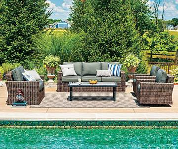 resort style pool furniture