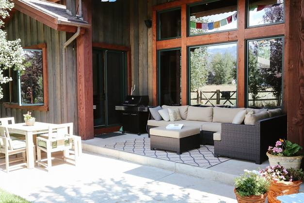 By day, the firepit patio afforded spectacular views