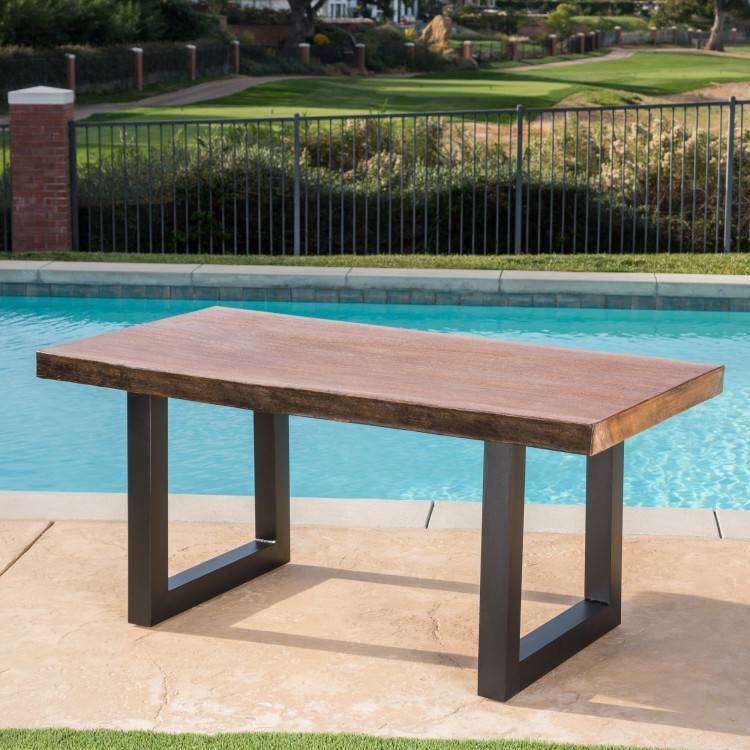 outdoor table finish outdoor industrial teak finish acacia wood coffee table  outdoor redwood table finish best