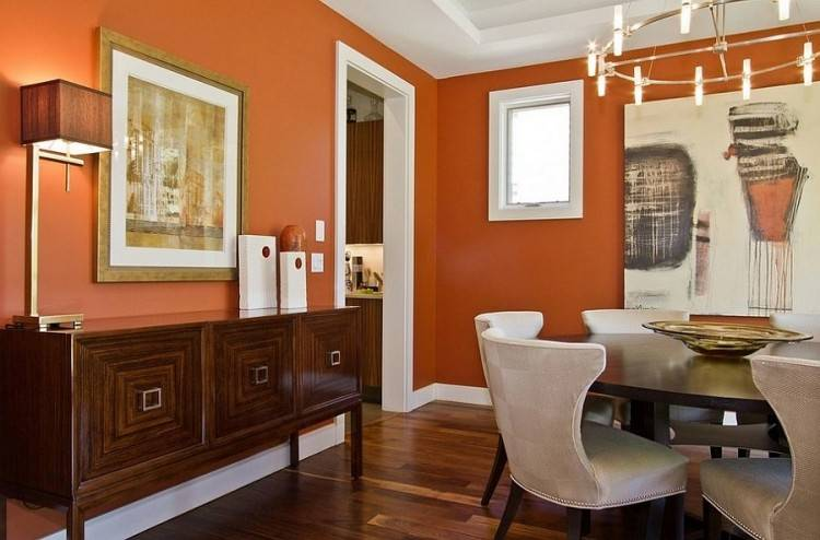 The Yellow Cape Cod: Before and After~A Dining Room Design Plan Comes To  Life – Love the burnt orange! Source by laurelflower The Yellow Cape Cod:  Before
