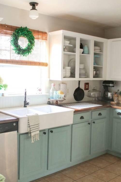 Chalk paint kitchen cabinets – creative kitchen makeover ideas