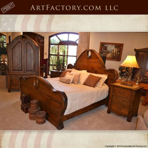 T Furniture Gables Mahogany King Sleigh Bed Set at Marlo Furniture