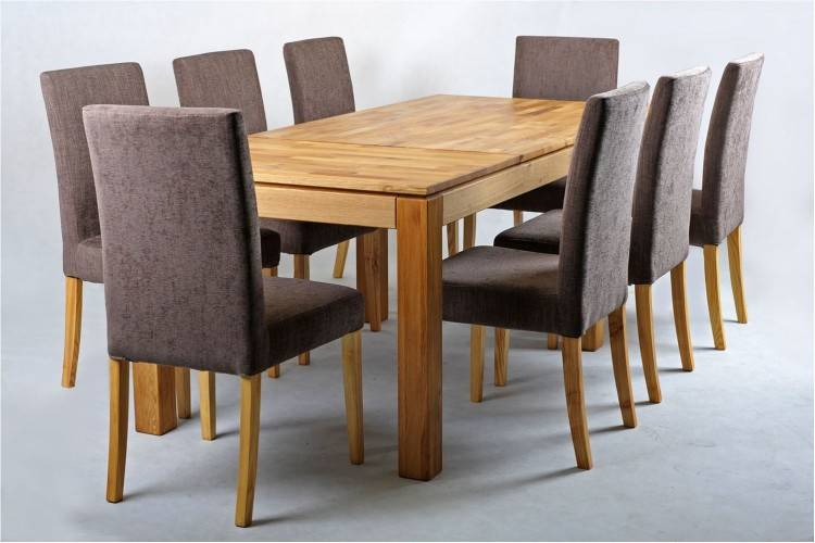 Avignon Oak Extending Dining Table And 8 Brown Rustique Nice Oak Dining  Table And 8 Chairs