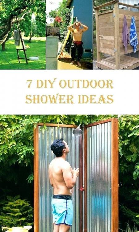 Exterior : Creative Outdoor Shower Plans Idea With Eco Shower Rustic Outdoor  Shower Made From Salvaged Antique Barn Design Creative Outdoor Shower Plans