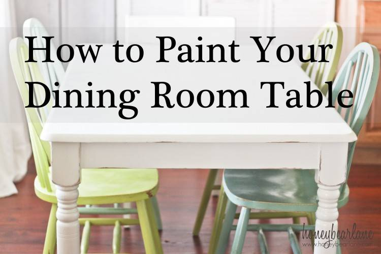 painted dining room table sets dos painting furniture with chalk