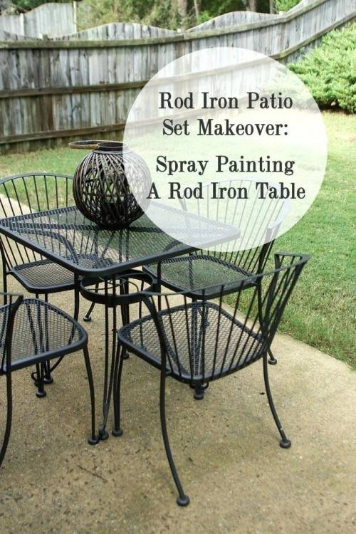 How to spray paint outdoor metal furniture to last a long time
