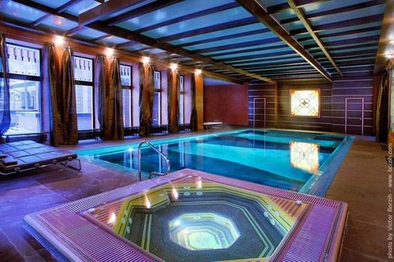 swimming pool room changing ideas