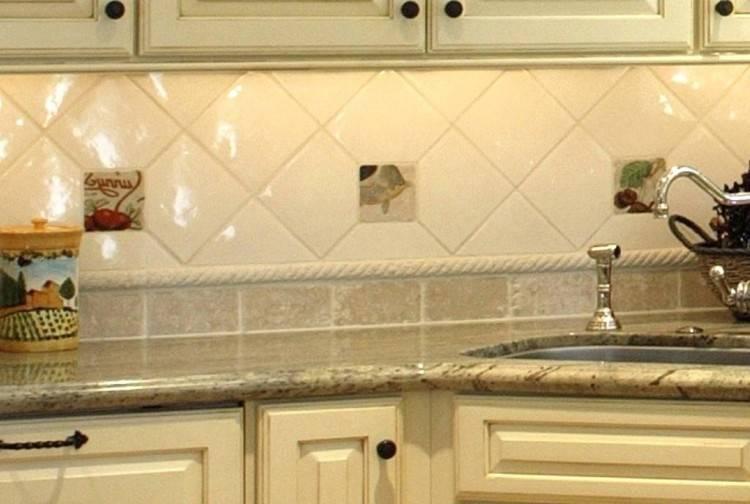 Elegant white arabesque ceramic tile backsplash
