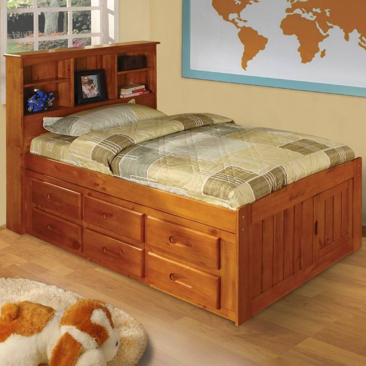 Delray Twin Bookcase Bed