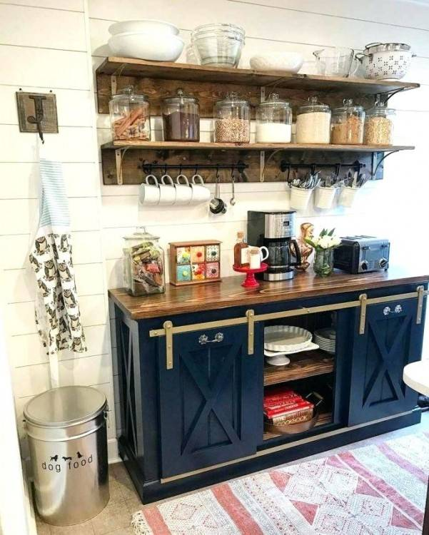 Open Shelving: We're loving open shelving in the kitchen and are definitely  down to DIY our own
