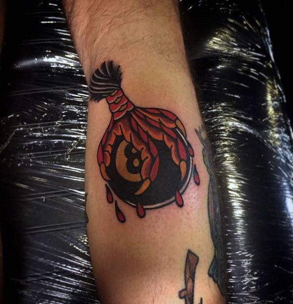 With all these associations, eight ball tattoo designs can include a  variety of different symbols and elements
