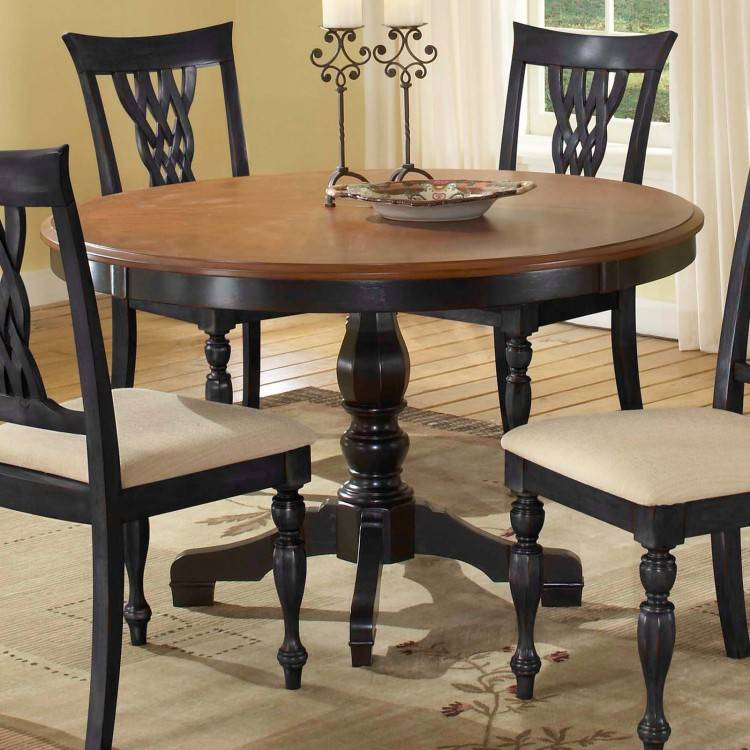 Remarkable Dining Room Large Round Oak Table Chairs Within Big Remodel