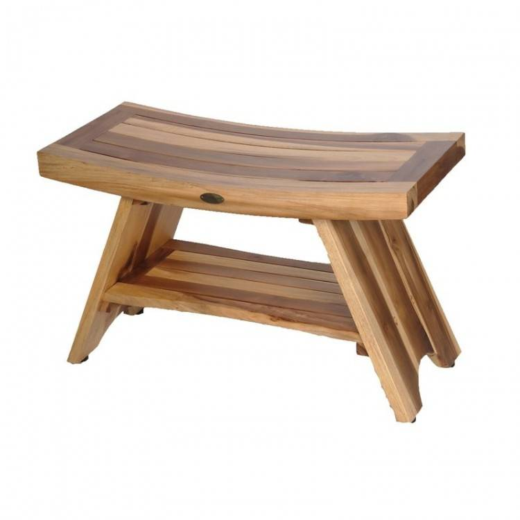 com : ALATEAK Teak Indoor Outdoor Patio Garden Yard Bath Shower Spa  Waterproof Stool Bench : Garden & Outdoor