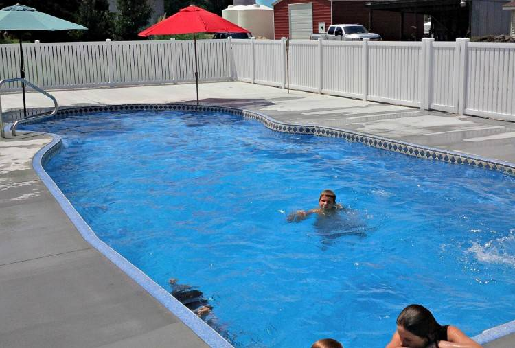 """""""The owners have a really unique backyard,"""" noted Roger Banks, owner of  Banks Pools & Spa Design"""