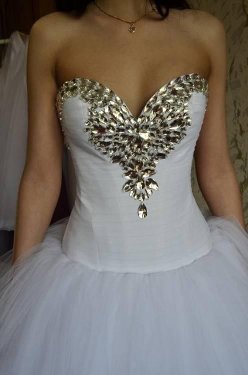 Diamond Cut Out Bridal Dress