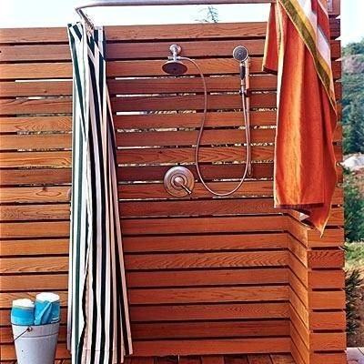 Stainless Steel Wall Mounted Hot & Cold Feed Outdoor Shower