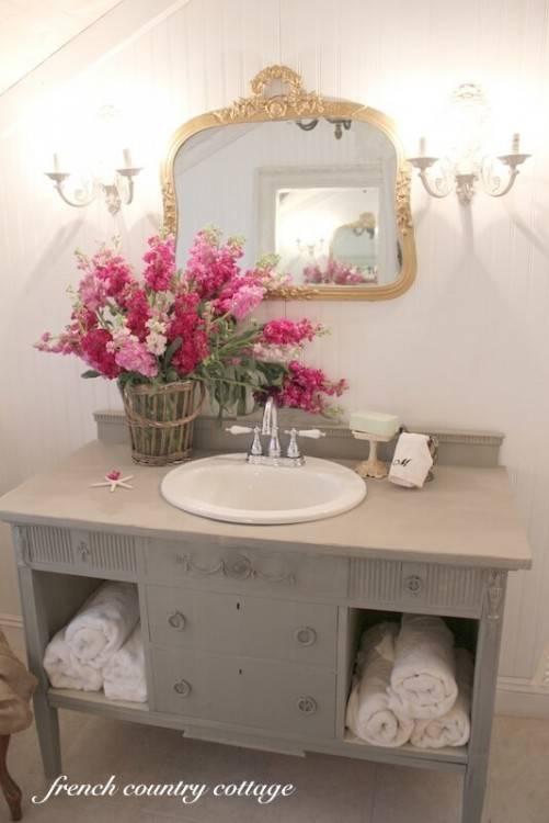 shabby chic bathroom ideas suitable for any home 2 shelves