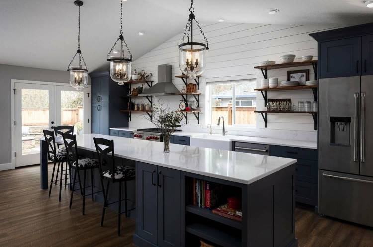 Home Design Apron Sinks With Lokadote And Cream Cabinet Kitchen Island  Black Countertop White Sink Kohler Front Farmhouse Ikea Country Cabinets  Metal