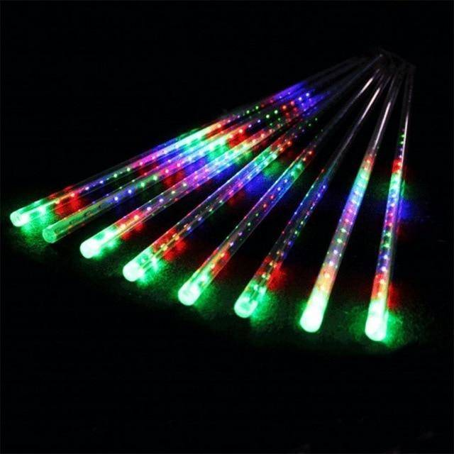 50CM Meteor Shower Rain Tube LED Christmas Light Wedding Garden Xmas String  Light Outdoor Holiday Lighting 100 240V String Outdoor Lights Outdoor  String